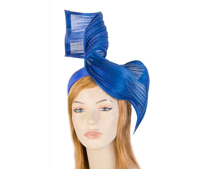 Royal blue jinsin wave fascinator by Fillies Collection Fascinators.com.au
