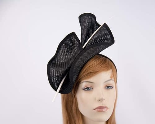 Black & white Australian Made racing fascinator by Max Alexander MA686BW Fascinators.com.au