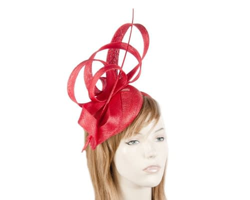 Tall red racing fascinator Fascinators.com.au
