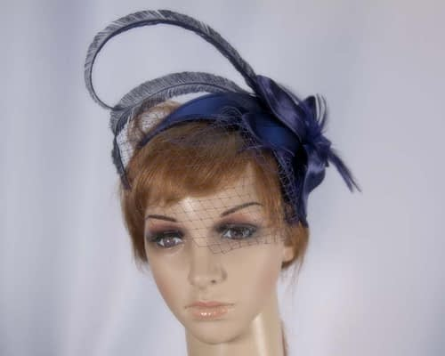 Navy fascinator K4799VN Fascinators.com.au