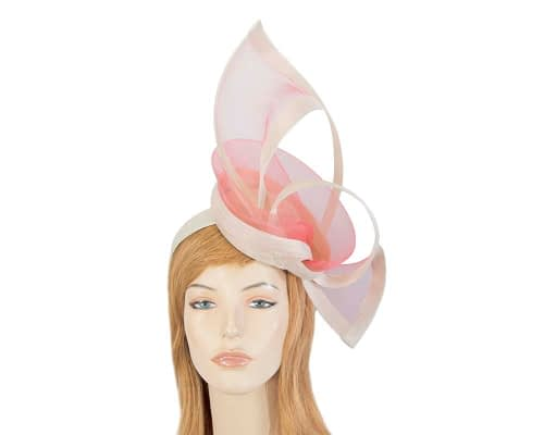 Cream coral fascinators S107CC Fascinators.com.au