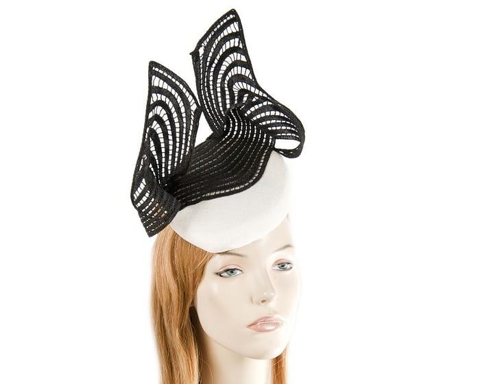 White & Black lace fascinator Fascinators.com.au
