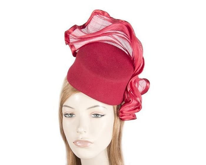 Tall red felt fascinator Fascinators.com.au