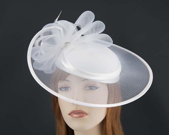 White fashion hat H835W Fascinators.com.au