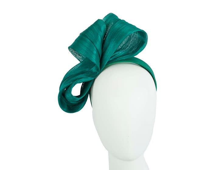 Large teal green bow racing fascinator by Fillies Collection Fascinators.com.au
