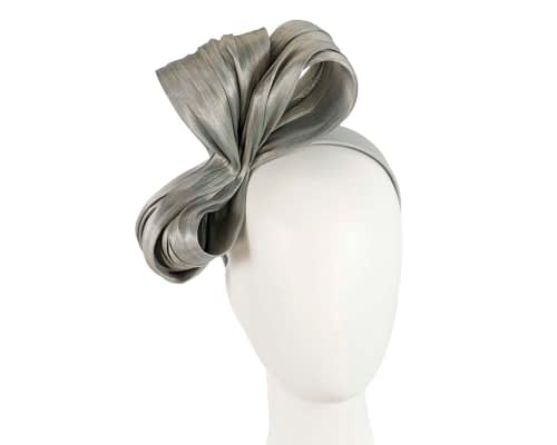 Large silver bow racing fascinator by Fillies Collection Fascinators.com.au