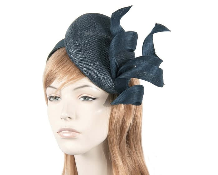 Amazing navy pillbox fascinator Fascinators.com.au