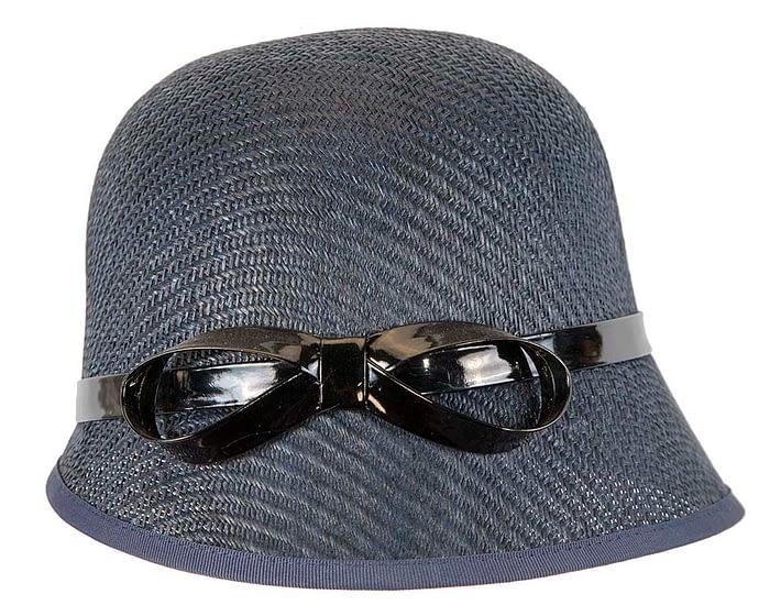Navy cloche racing hat by Max Alexander Fascinators.com.au