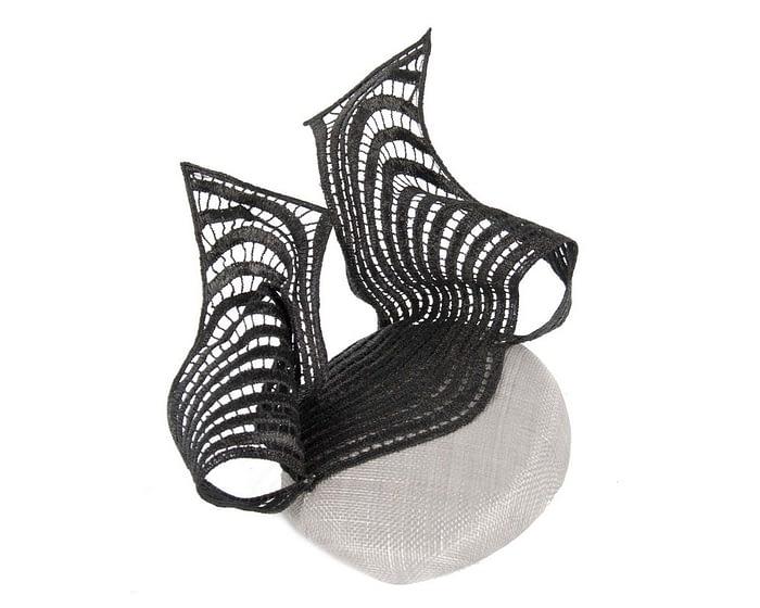 Silver lace fascinator Fascinators.com.au