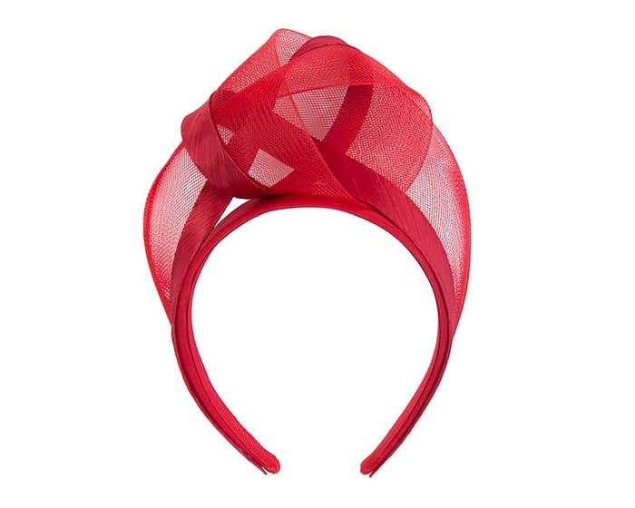 Red turban headband by Fillies Collection Fascinators.com.au