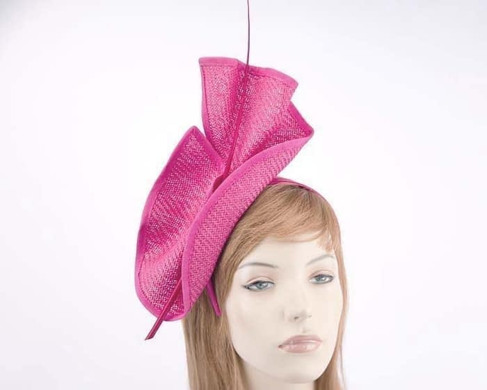 Bright fuchsia Australian Made racing fascinator by Max Alexander MA686F Fascinators.com.au
