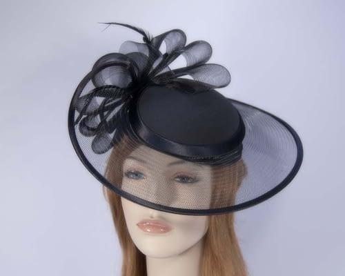 Black fashion hats H835B Fascinators.com.au
