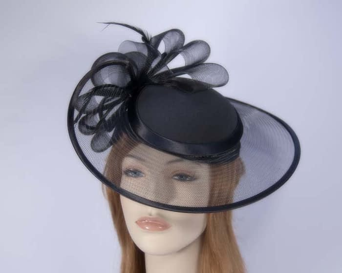 Black fashion hats H835B Fascinators.com.au