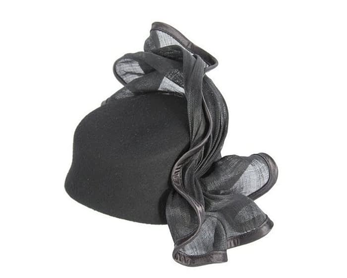 Tall black felt fascinator Fascinators.com.au