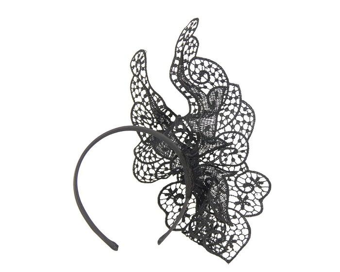 Black lace butterfly fascinator by Max Alexander Fascinators.com.au