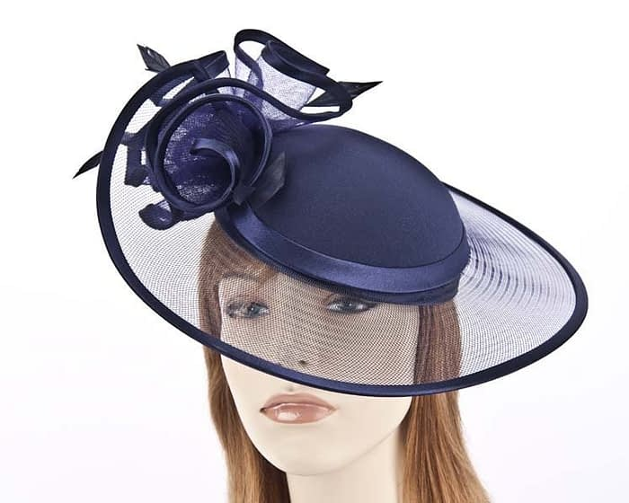 Navy fashion hats H923N Fascinators.com.au