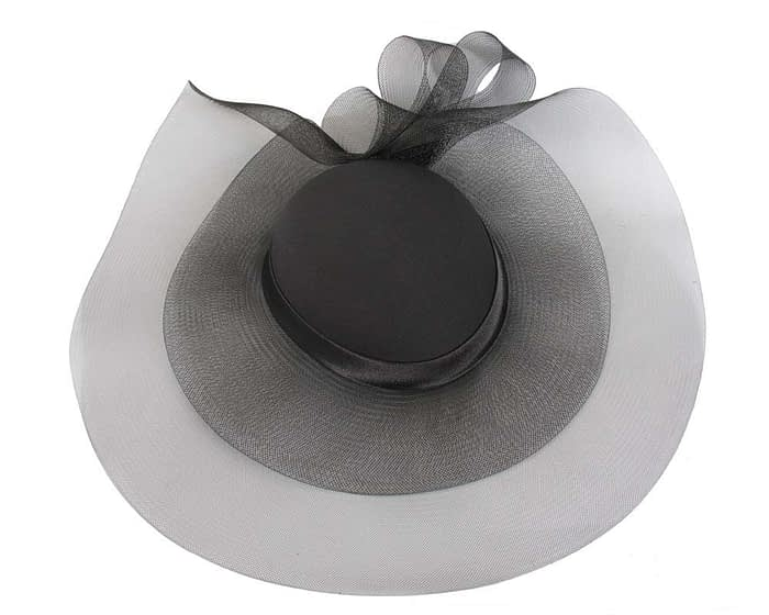 Black fashion hat for Melbourne Cup races & special occasions S152 Fascinators.com.au