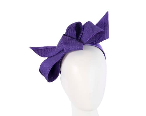 Purple bow fascinator by Max Alexander Fascinators.com.au