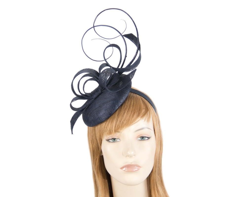 Navy flower headband fascinator by Max Alexander