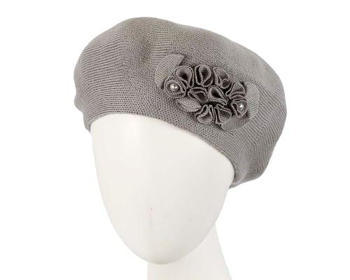 Warm grey wool beret. Made in Europe Fascinators.com.au