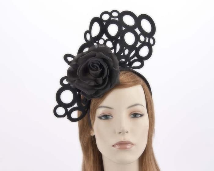 Black racing fascinator S140B Fascinators.com.au