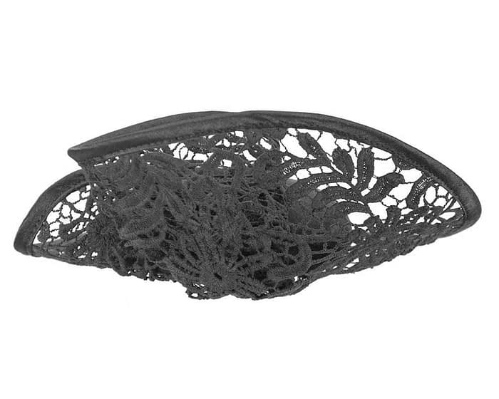 Black lace winter fascinator Fascinators.com.au