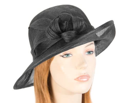 Black bucket fashion hat Fascinators.com.au