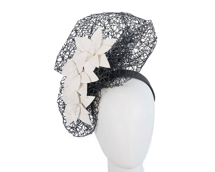 Black & white designers racing fascinator by Fillies Collection Fascinators.com.au