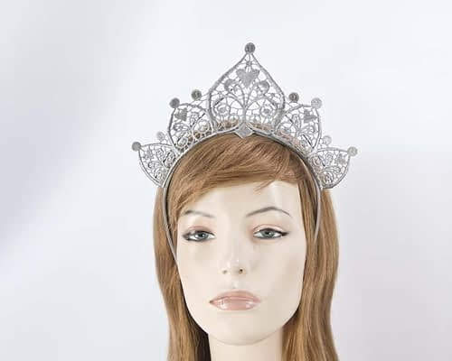 Silver lace crown Fascinators.com.au