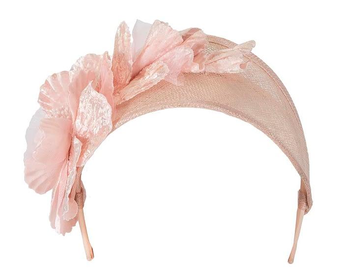 Blush flower headband racing fascinator Fascinators.com.au