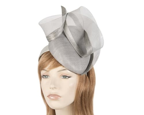 Stunning silver racing fascinator Fascinators.com.au