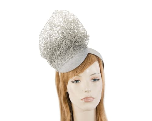 Designers silver winter fascinator by Fillies Collection Fascinators.com.au