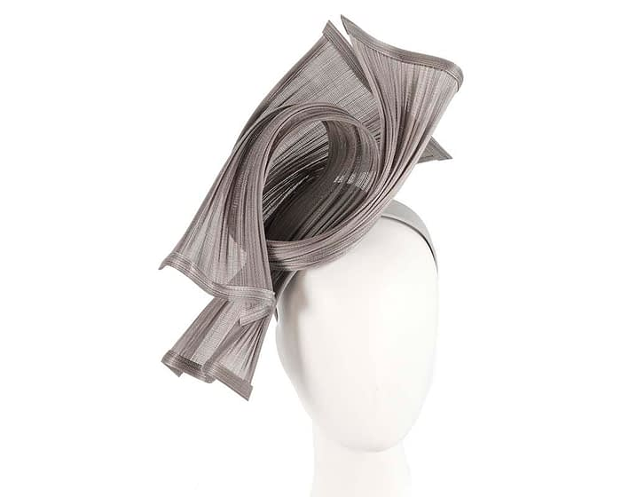 Bespoke silver jinsin waves racing fascinator by Fillies Collection Fascinators.com.au