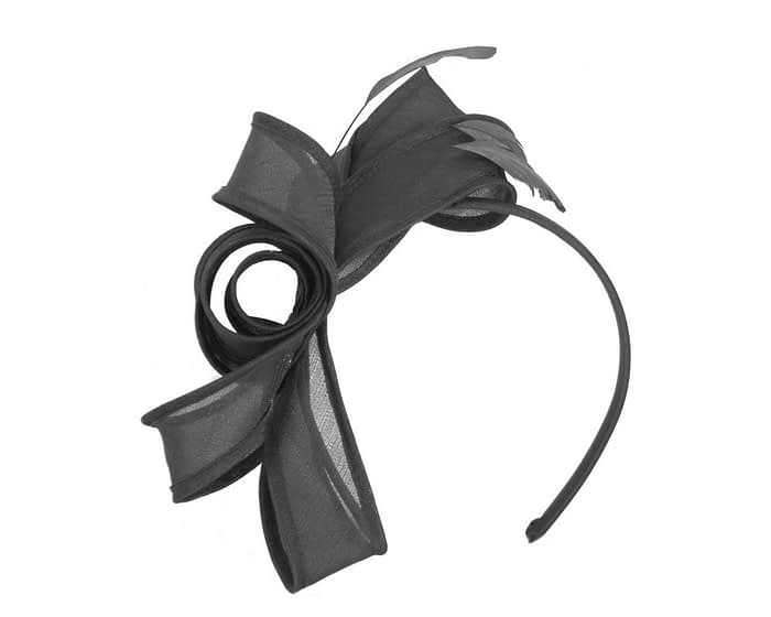 Black organza bow fascinator by Max Alexander Fascinators.com.au