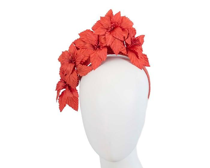 Burnt Orange 3D flower headband fascinator Fascinators.com.au