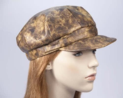 Mustard ladies newsboy cap Max Alexander J299 Fascinators.com.au