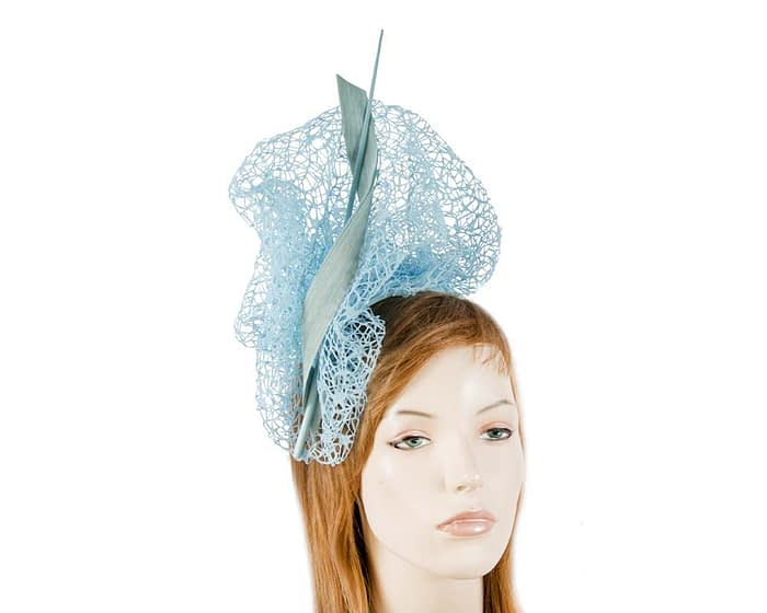 Bespoke light blue lace fascinator Fascinators.com.au