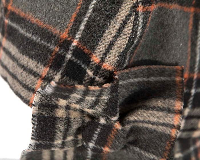 Orange grey casual beret J282OG Fascinators.com.au