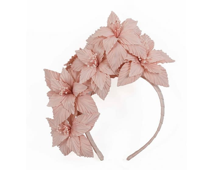 Blush 3D flower headband fascinator Fascinators.com.au