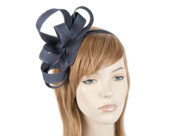 Navy loops racing fascinator Fascinators.com.au