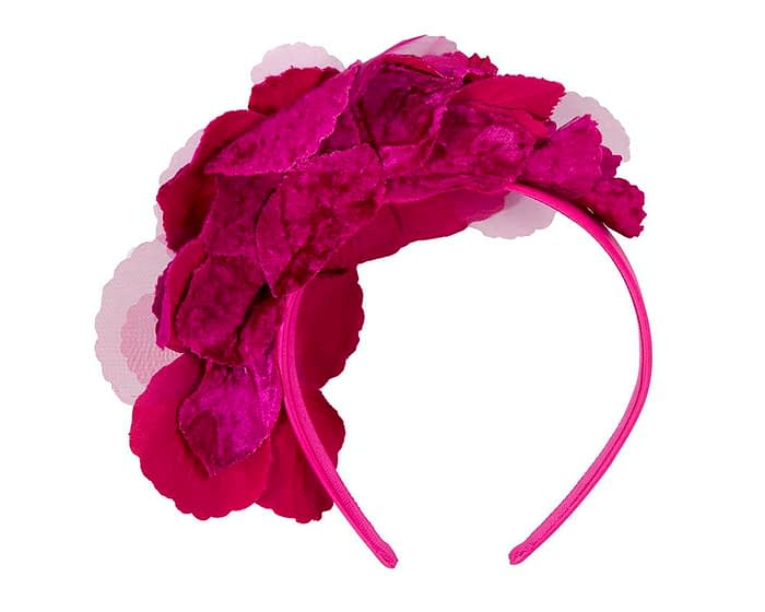 Fuchsia Headband Fascinator Fascinators.com.au