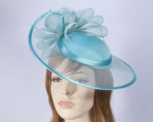 Aqua fashion hat H835A Fascinators.com.au