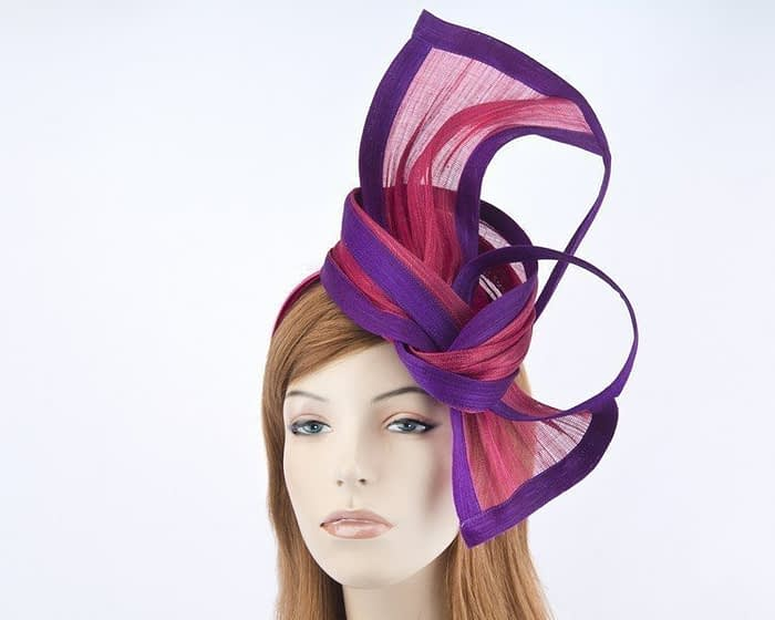 Fuchsia purple Melbourne Cup fascinator by Fillies Collection S159FP Fascinators.com.au