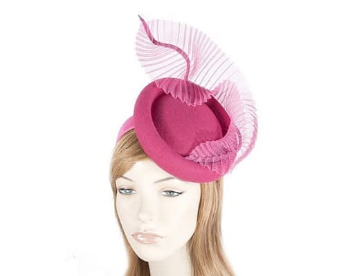 Bespoke fuchsia winter fascinator by Fillies Collection Fascinators.com.au