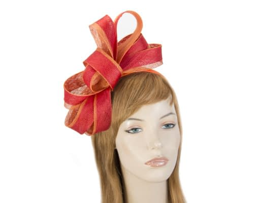 Red and orange fascinator by Max Alexander Fascinators.com.au