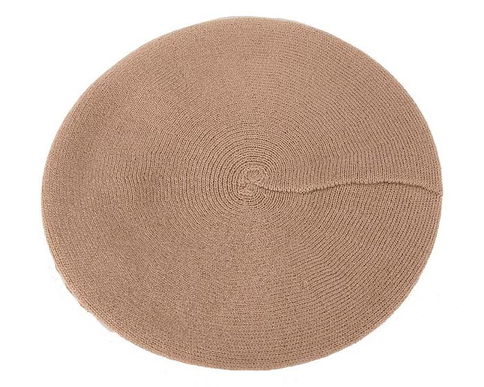 Warm beige sand wool beret. Made in Europe Fascinators.com.au