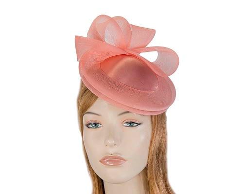 Coral custom made cocktail hats Fascinators.com.au
