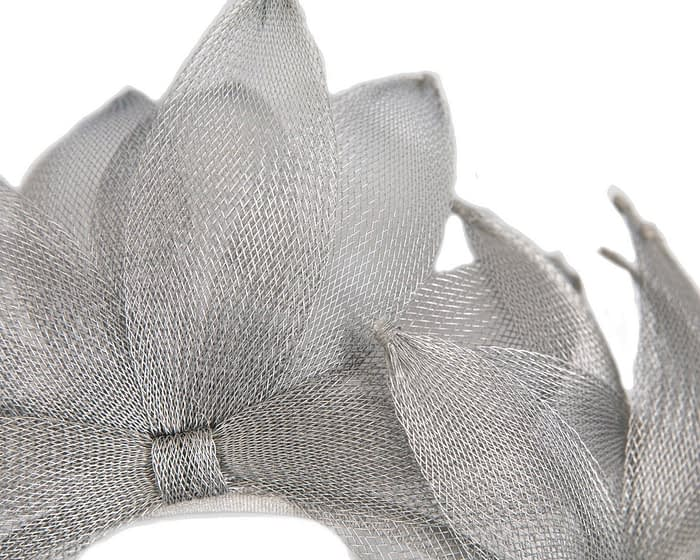 Silver crinoline crown racing fascinator Fascinators.com.au
