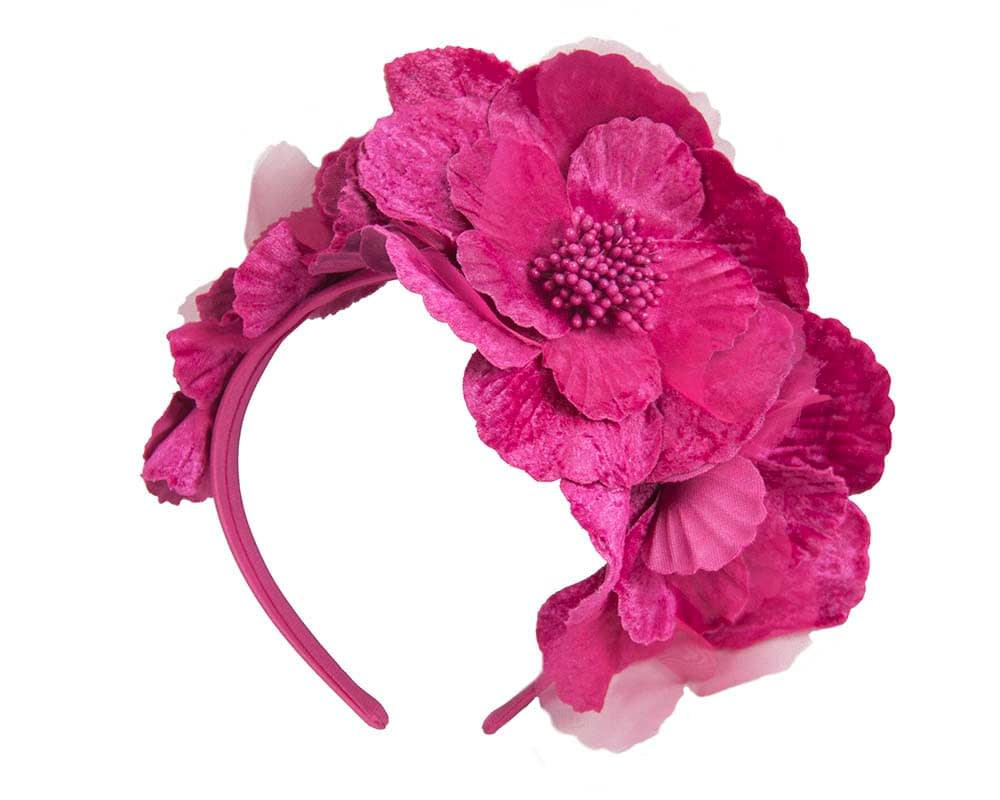 Fuchsia flower headband by Max Alexander