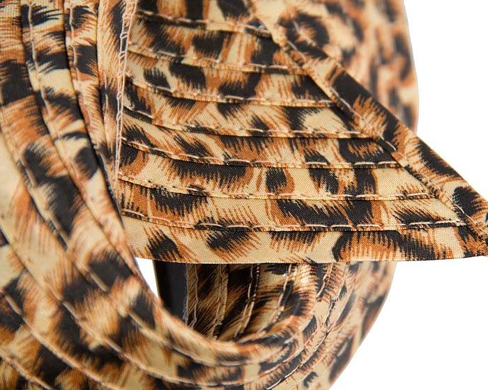 Twisted leopard fascinator Fascinators.com.au